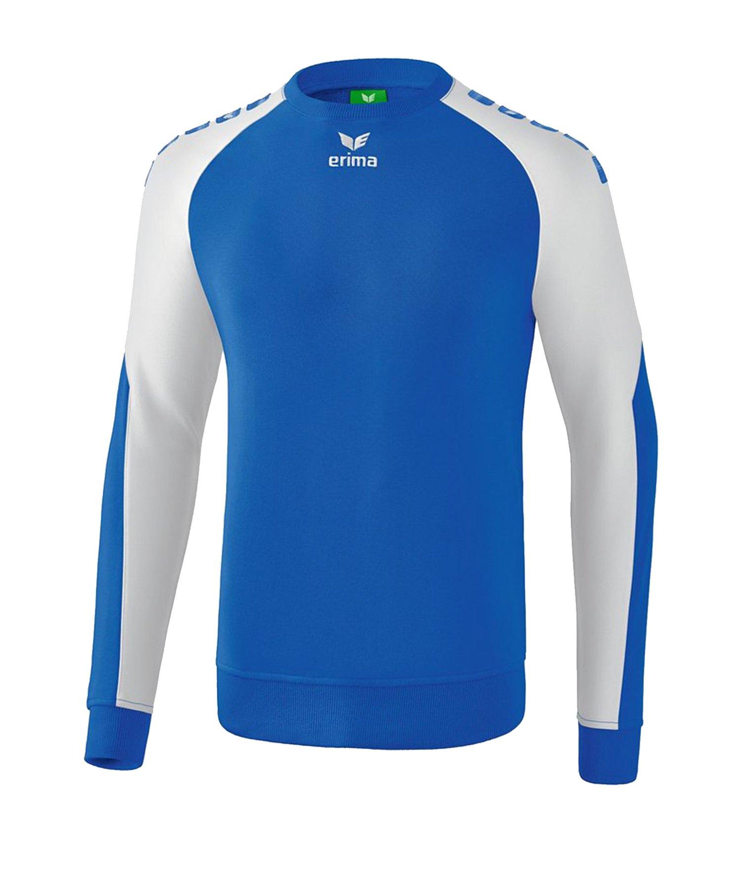 Erima Essential 5-C Sweatshirt Blau Weiss - Blau