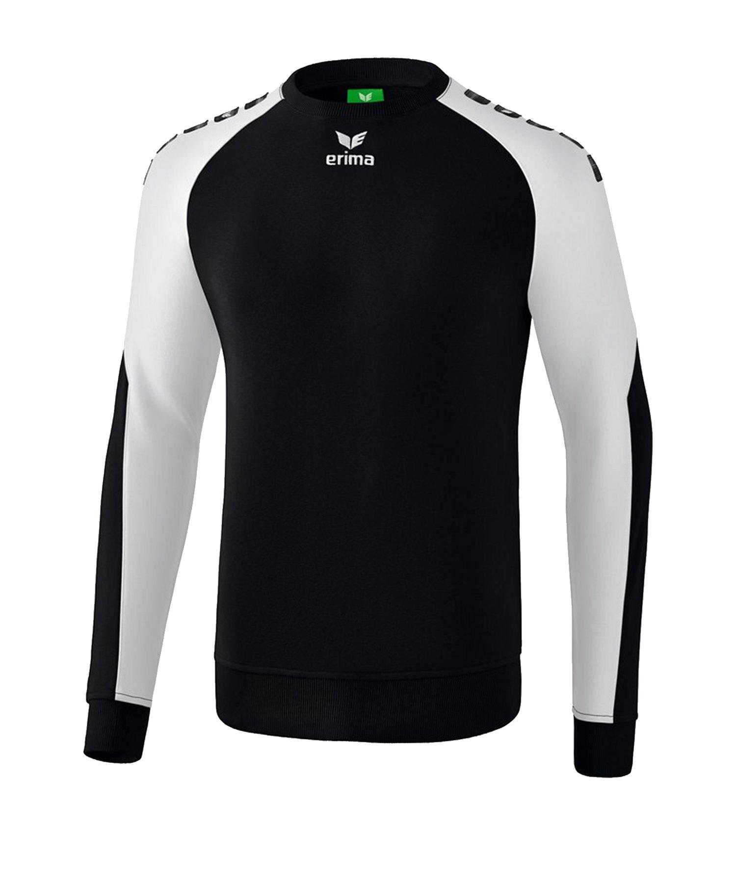 Erima Essential 5-C Sweatshirt Kids Schwarz Weiss - Schwarz