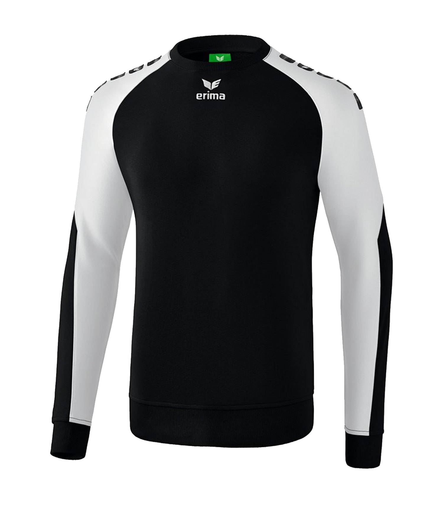 Erima Essential 5-C Sweatshirt Schwarz Weiss - Schwarz