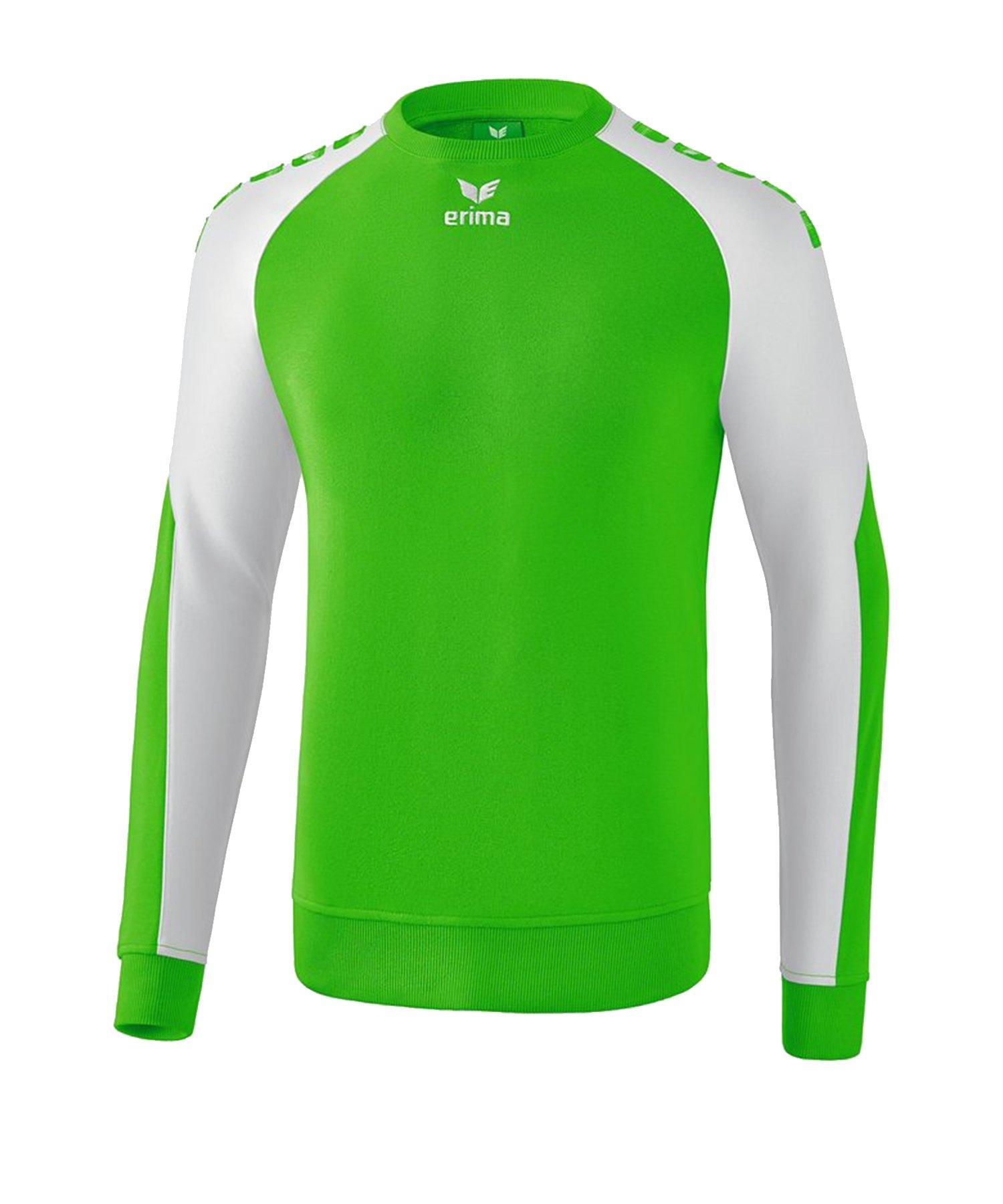 Erima Essential 5-C Sweatshirt Grün Weiss - Gruen