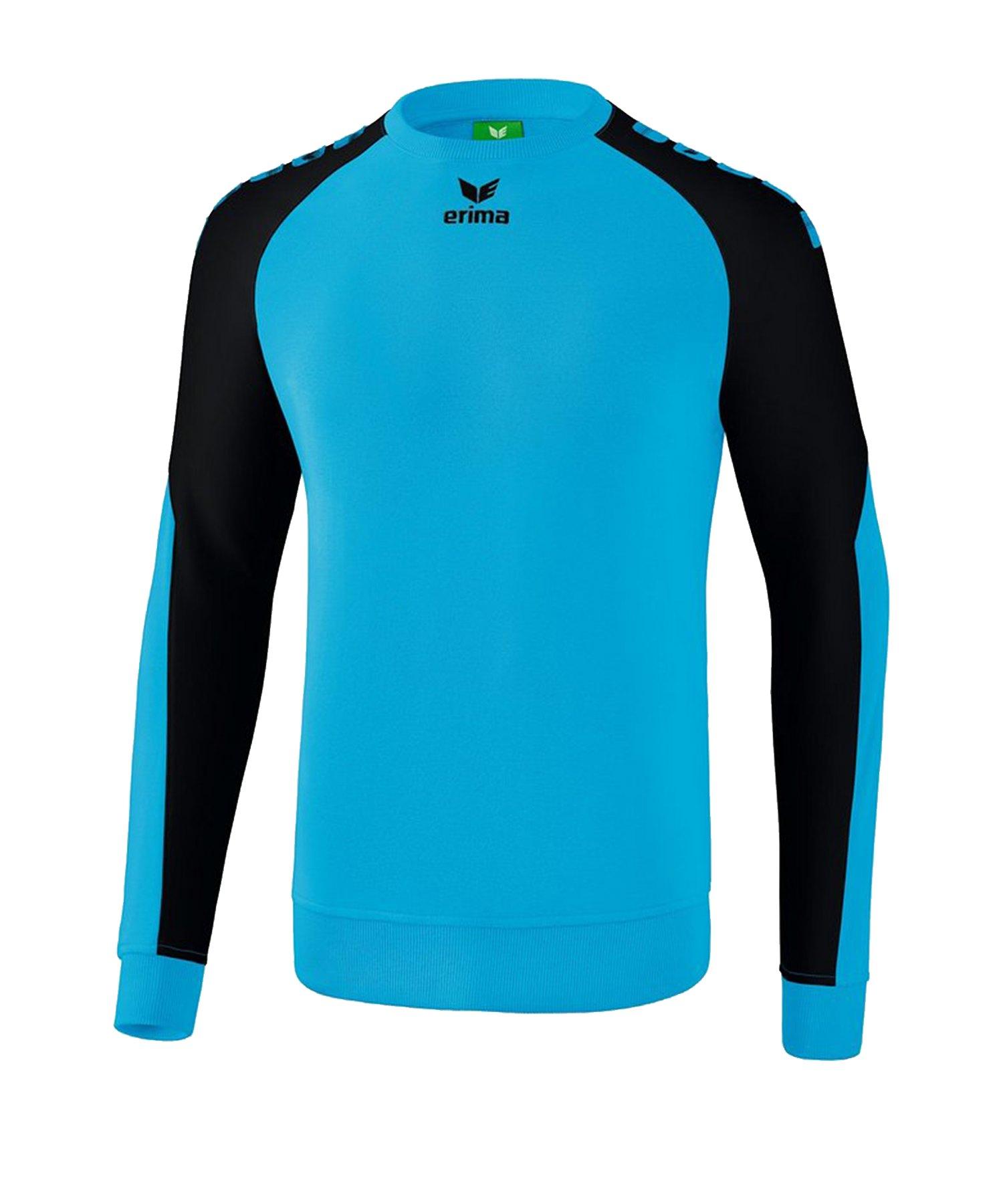 Erima Essential 5-C Sweatshirt Blau Schwarz - Blau