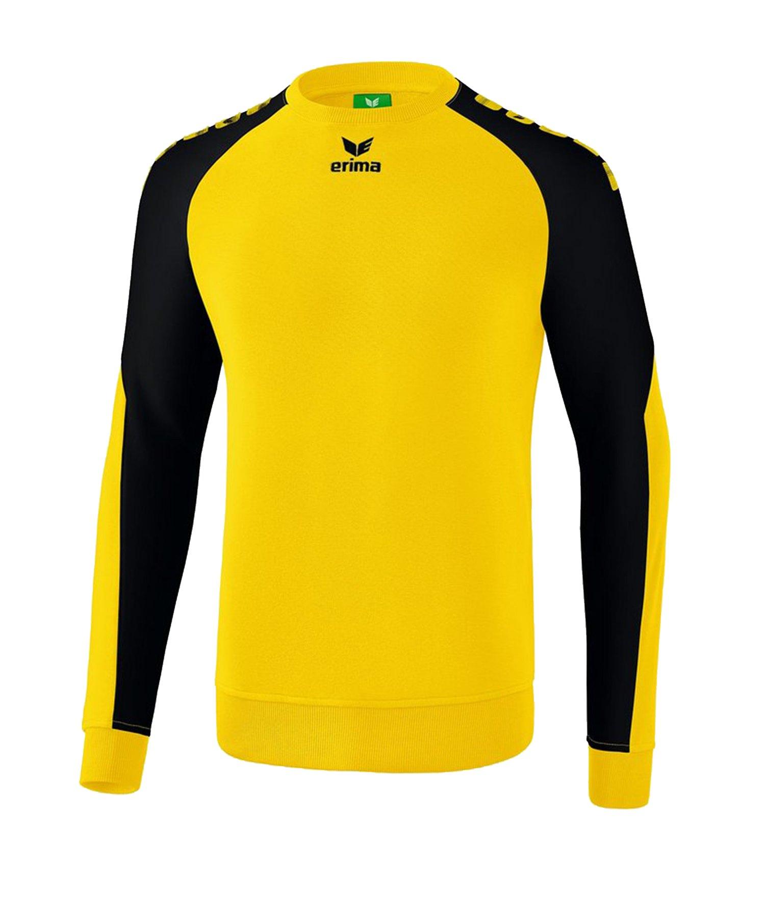 Erima Essential 5-C Sweatshirt Gelb Schwarz - Gelb