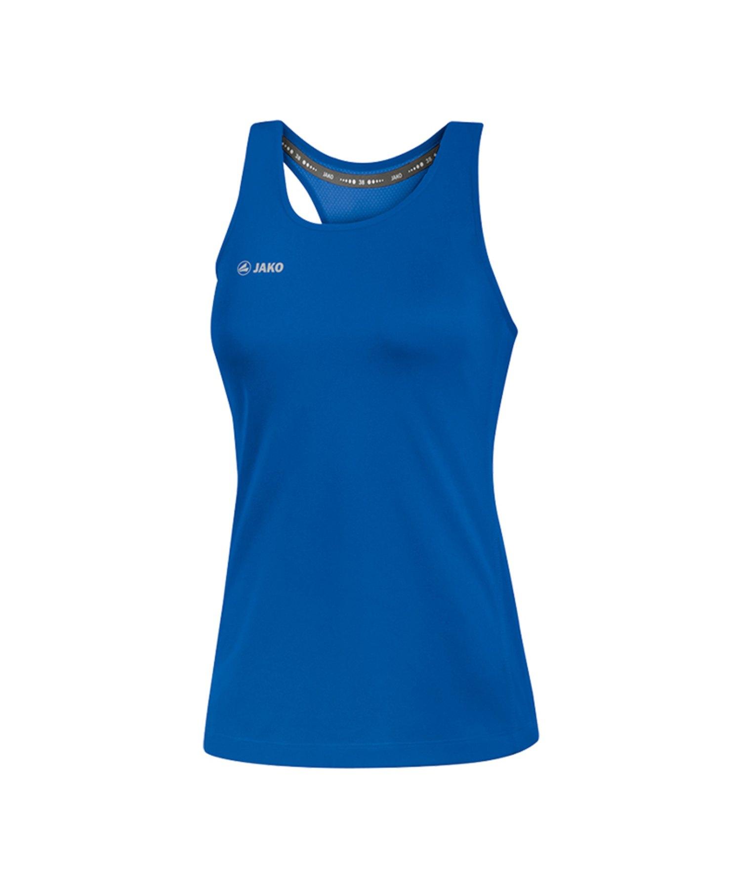 Jako Run 2.0 Tanktop Running Damen Blau F04 - Blau