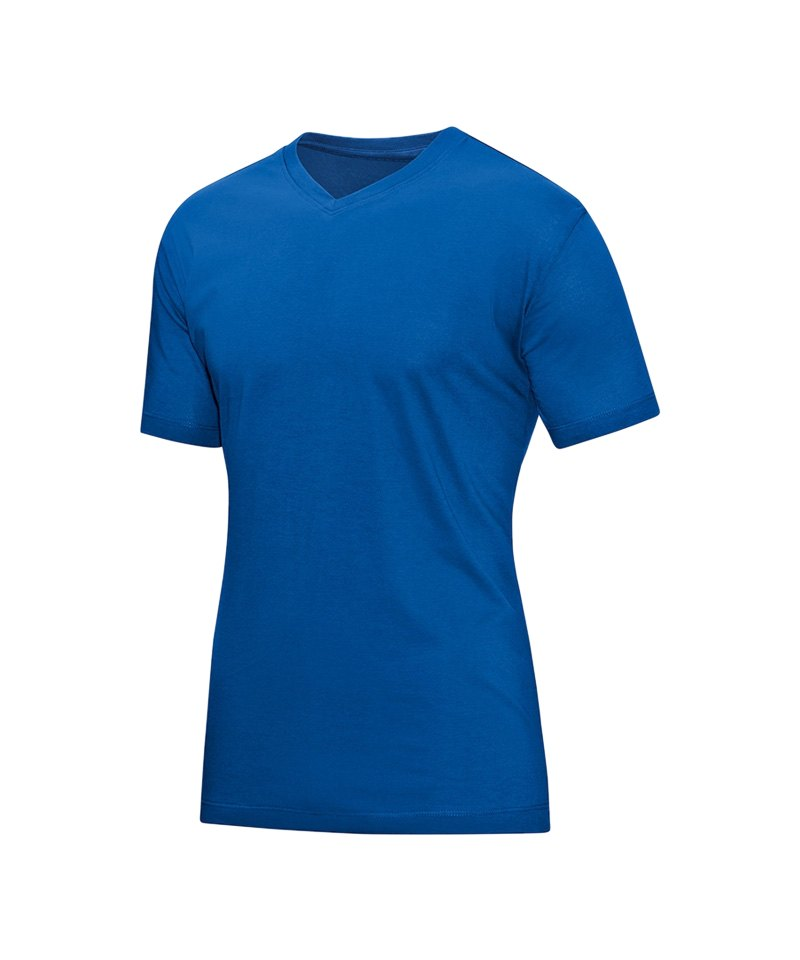 Jako T-Shirt V-Neck Schwarz F08 - blau
