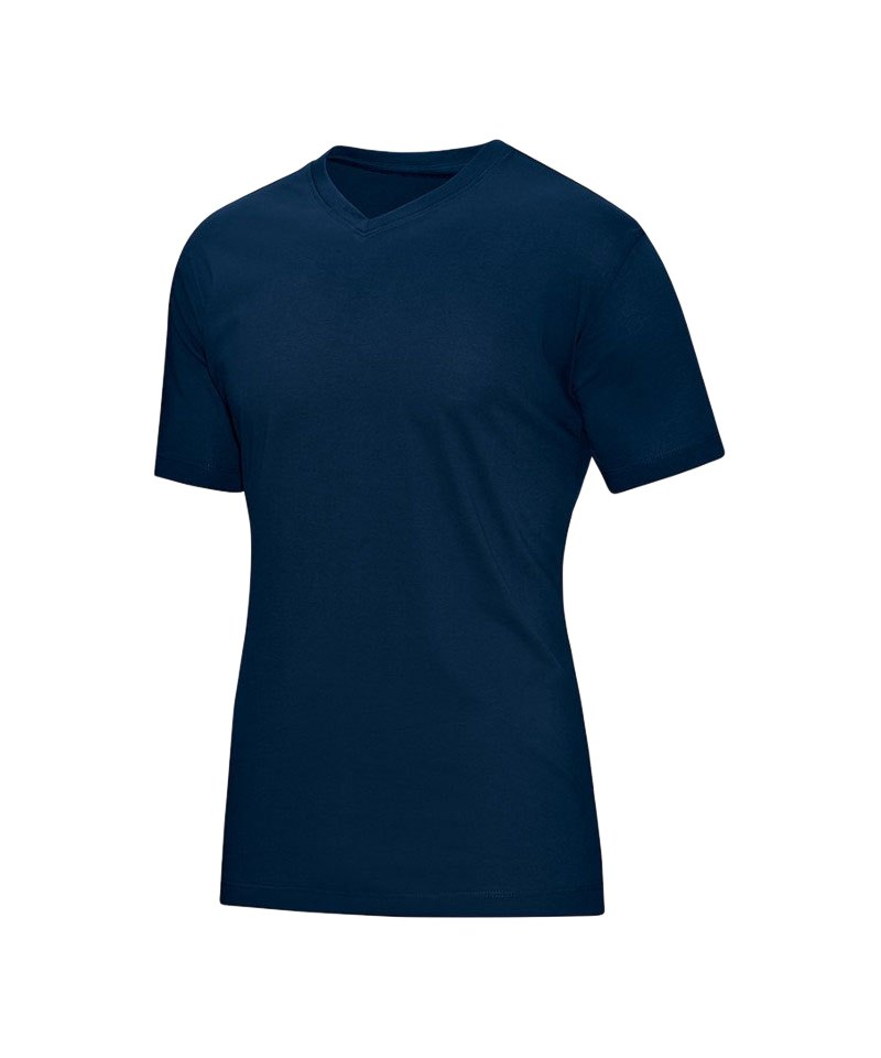 Jako V-Neck T-Shirt Blau F09 - blau