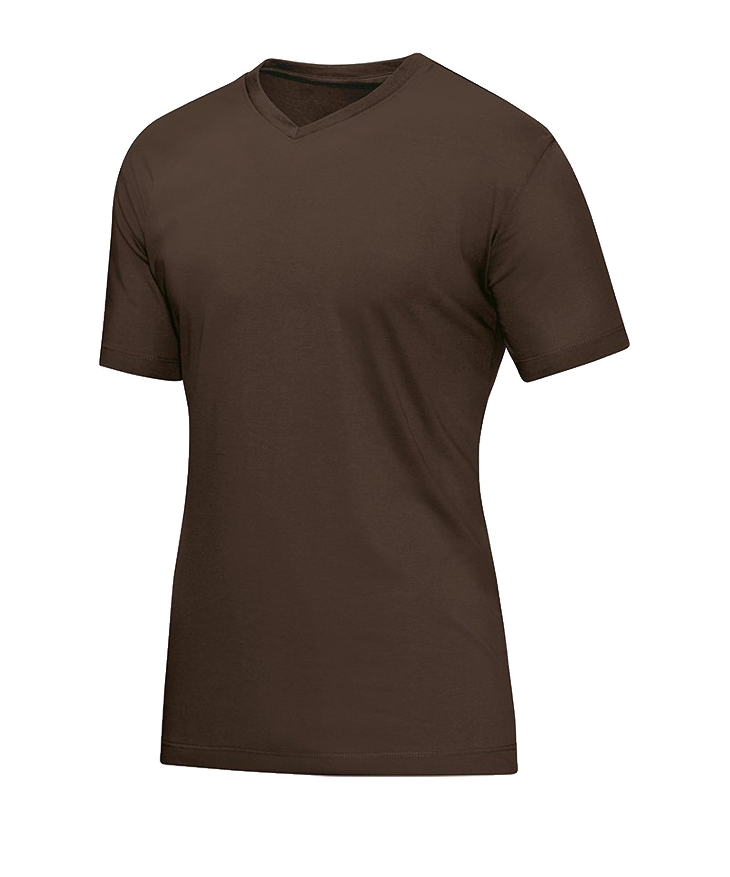 Jako V-Neck T-Shirt Braun F37 - braun