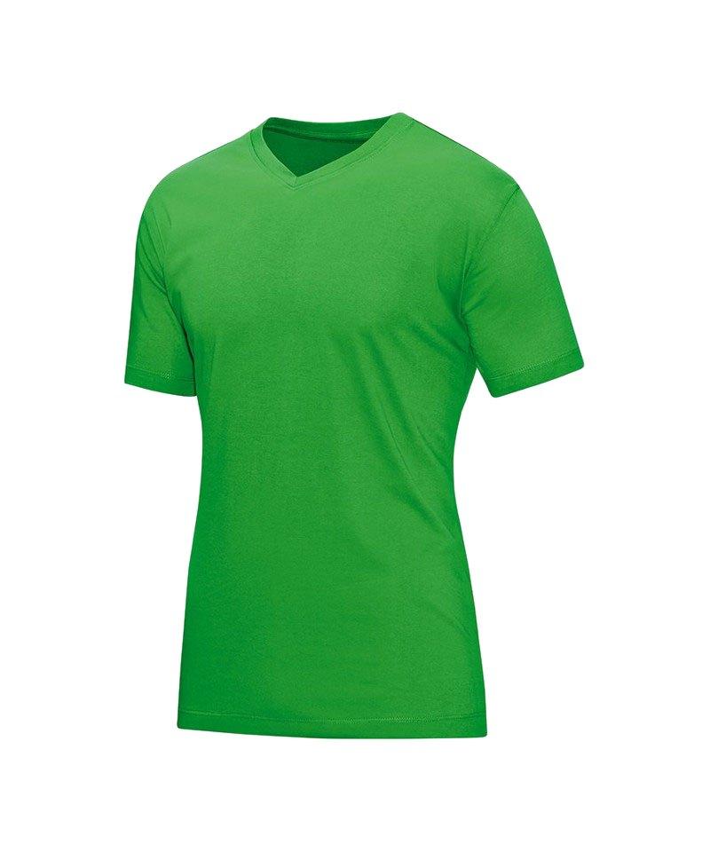 Jako V-Neck T-Shirt Grün F22 - gruen