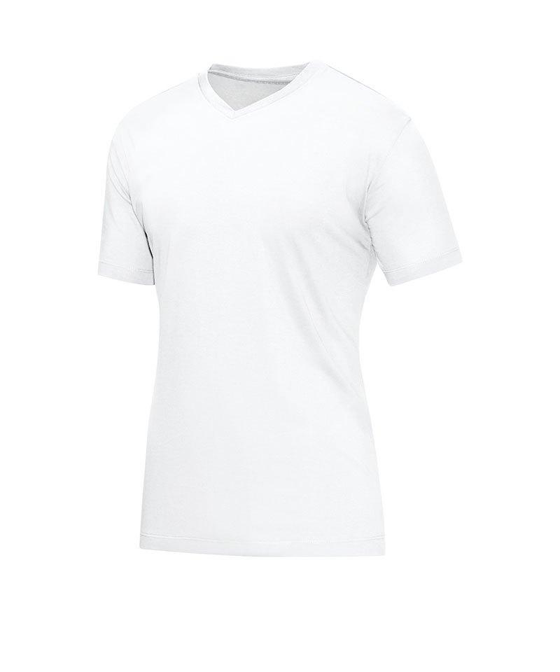 Jako V-Neck T-Shirt Weiss F00 - weiss