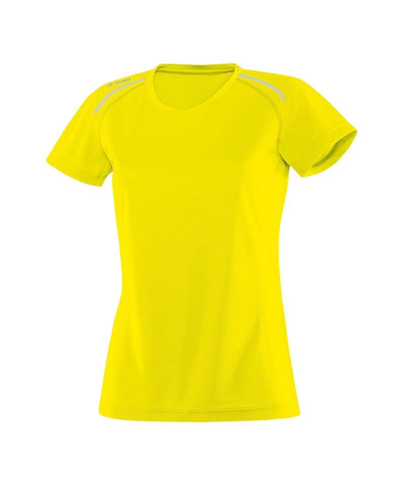 Jako T-Shirt Active Run Damen Gelb F03 - gelb