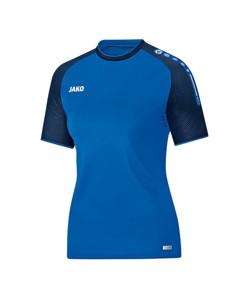 Jako T-Shirt Champ Damen Blau F49 - blau