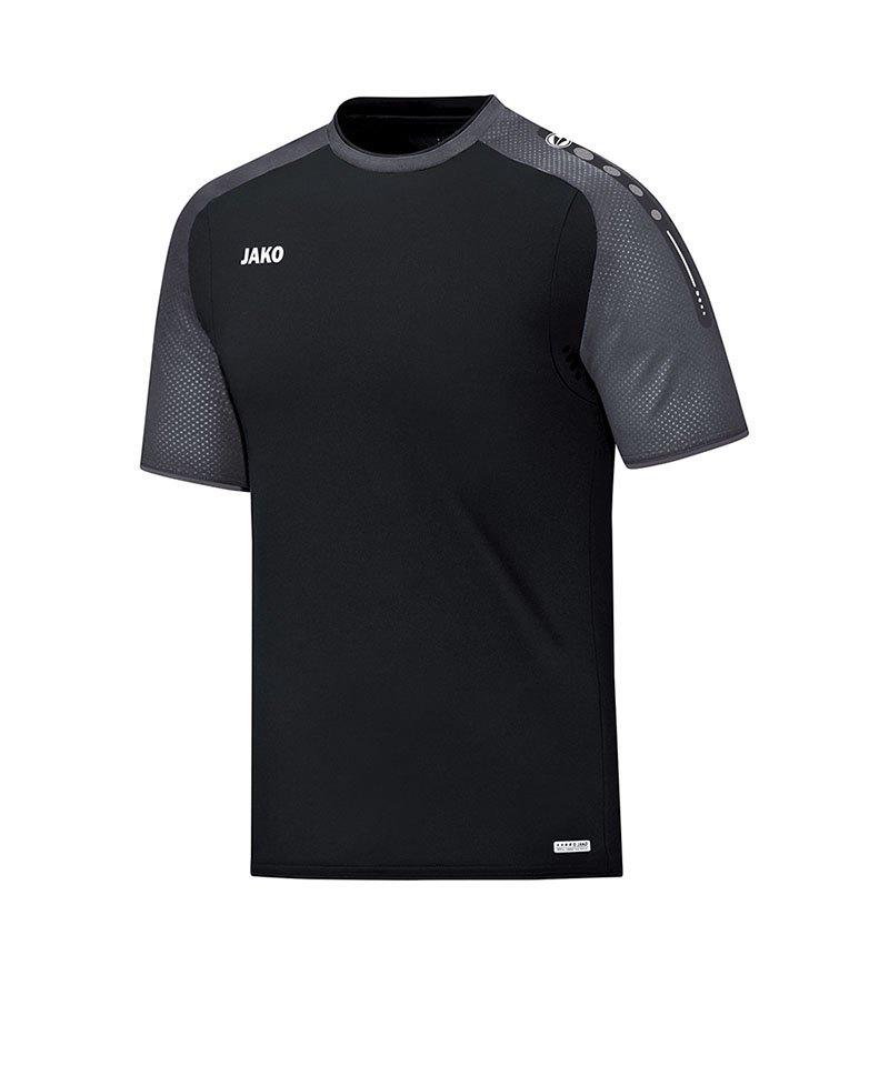 Jako T-Shirt Champ Schwarz Grau F21 - schwarz