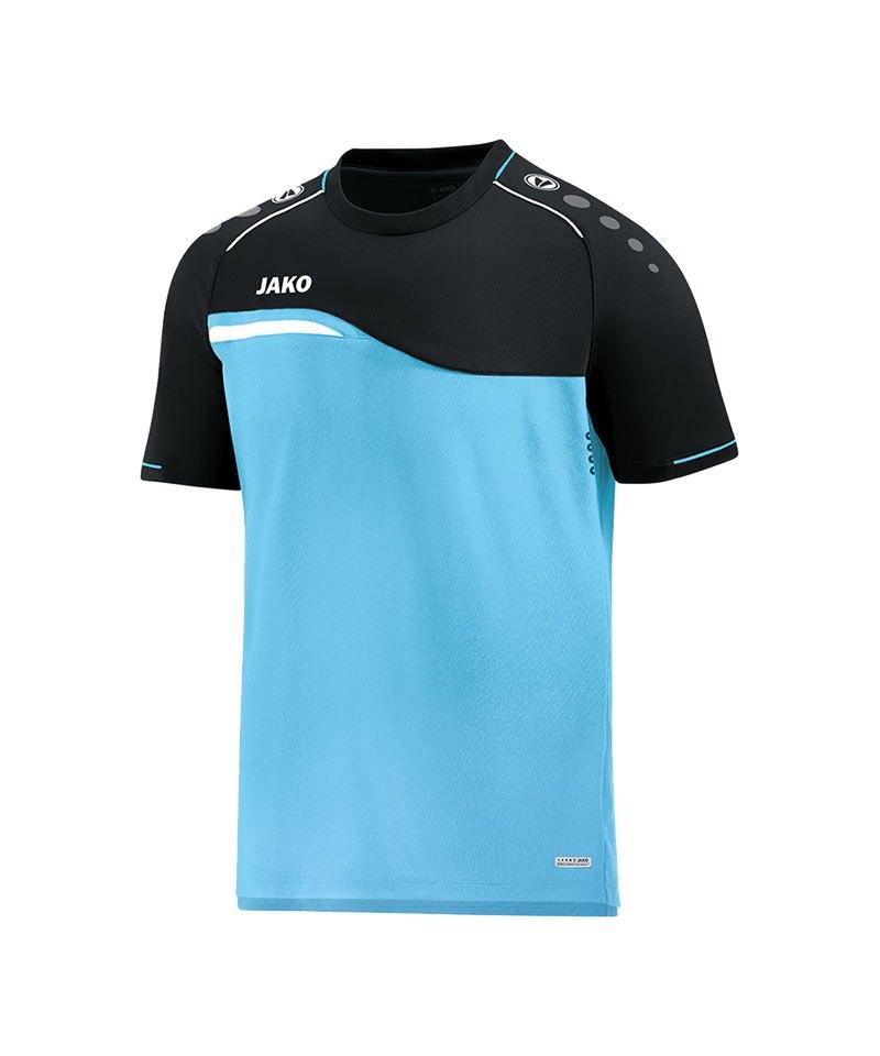 Jako Competition 2.0 T-Shirt Blau Schwarz F45 - blau