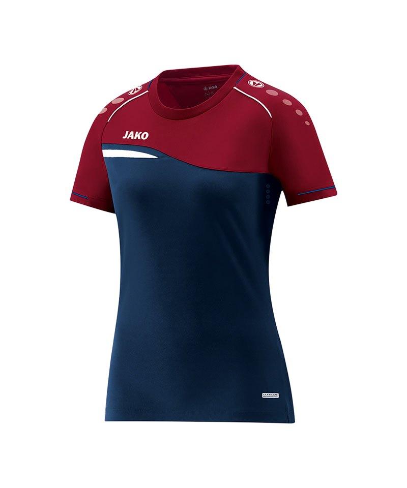 Jako Competition 2.0 T-Shirt Damen Blau Rot F09 - blau