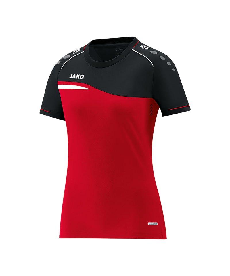 Jako Competition 2.0 T-Shirt Damen Rot Schwarz F01 - rot