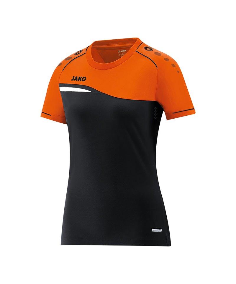 Jako Competition 2.0 T-Shirt Damen Schwarz F19 - schwarz