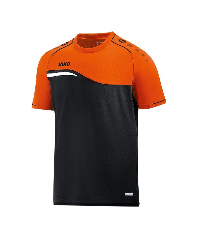 Jako Competition 2.0 T-Shirt Schwarz Orange F19 - schwarz