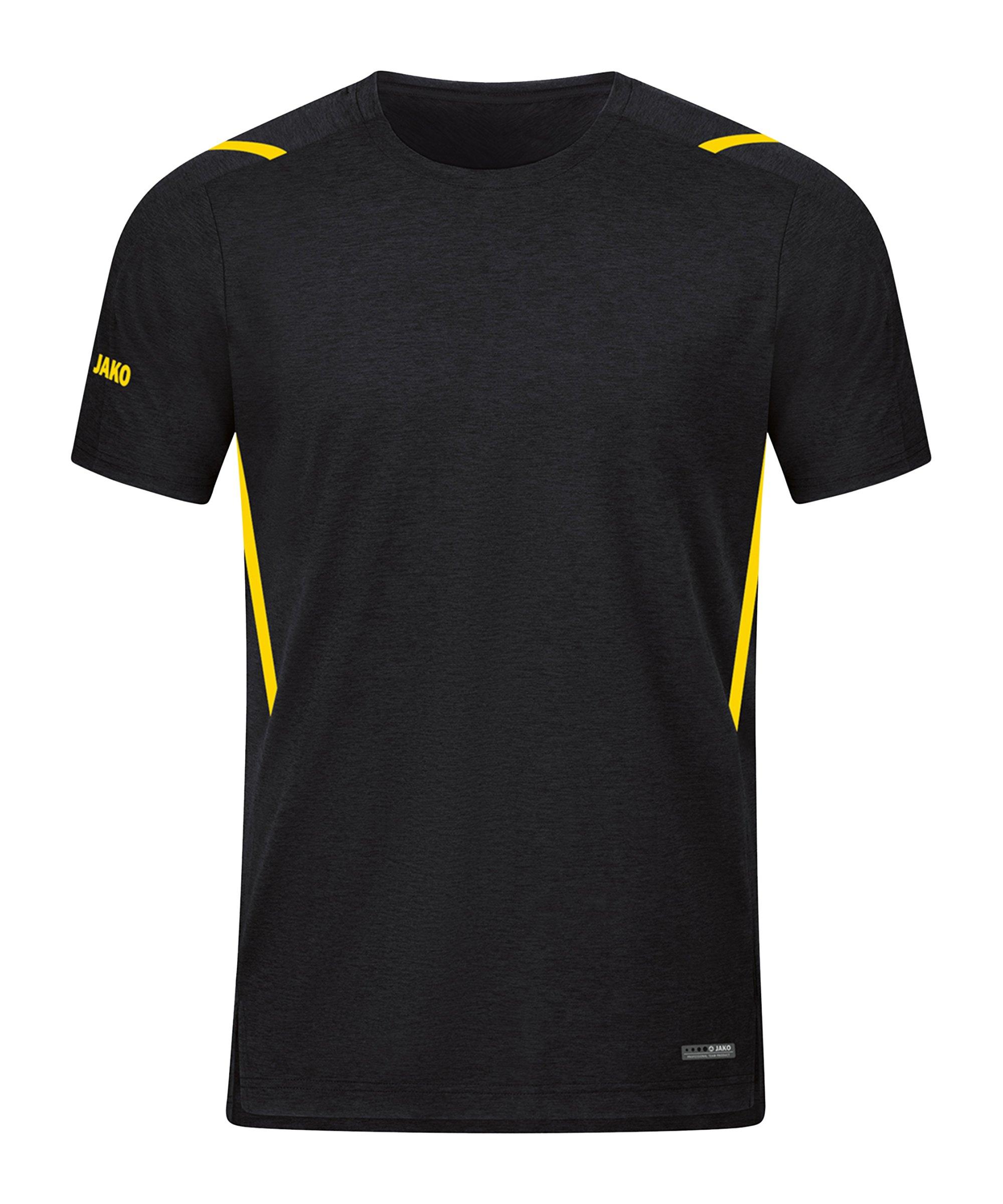 JAKO Challenge Freizeit T-Shirt Gelb F505 - schwarz