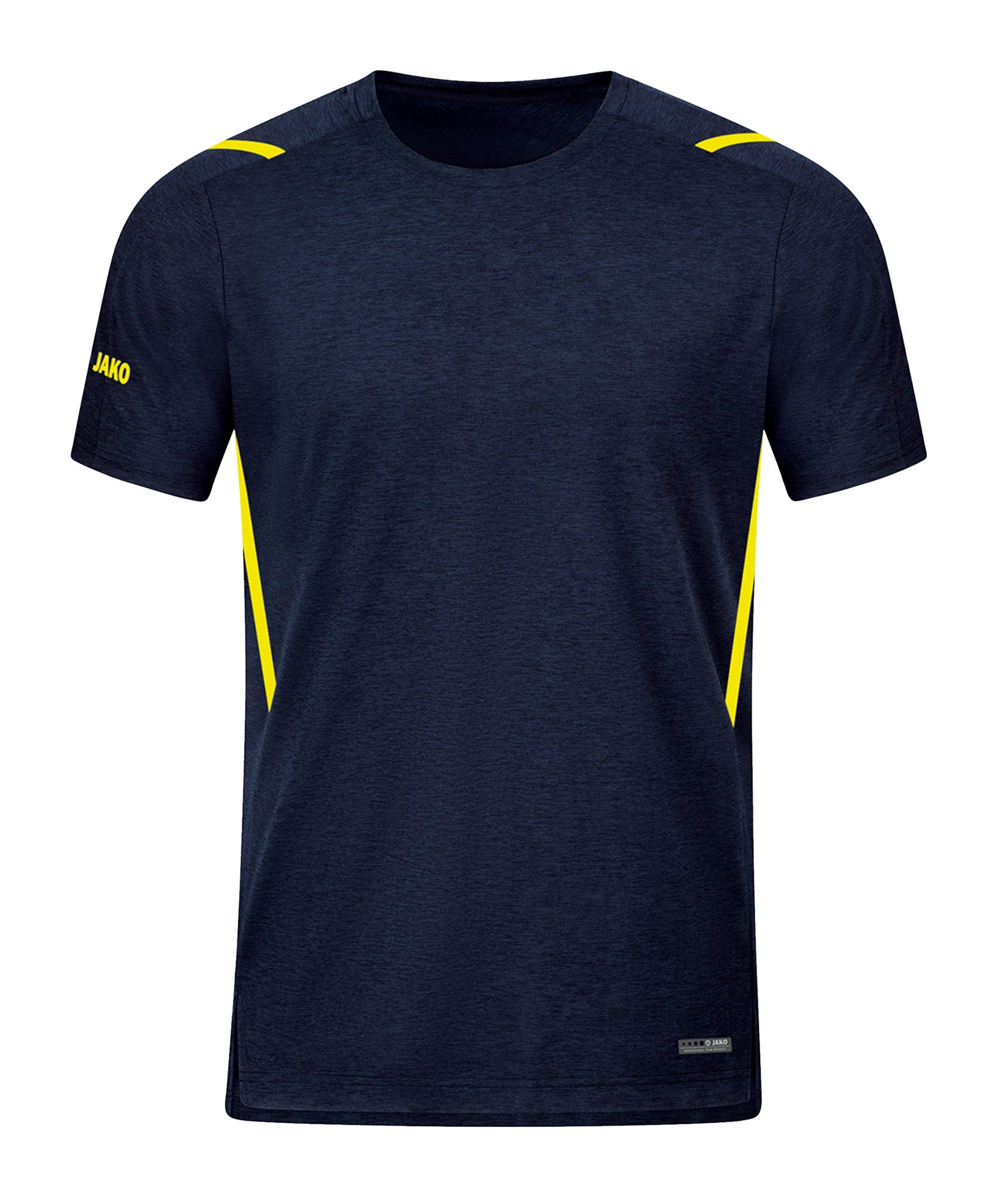JAKO Challenge Freizeit T-Shirt Gelb F512 - blau
