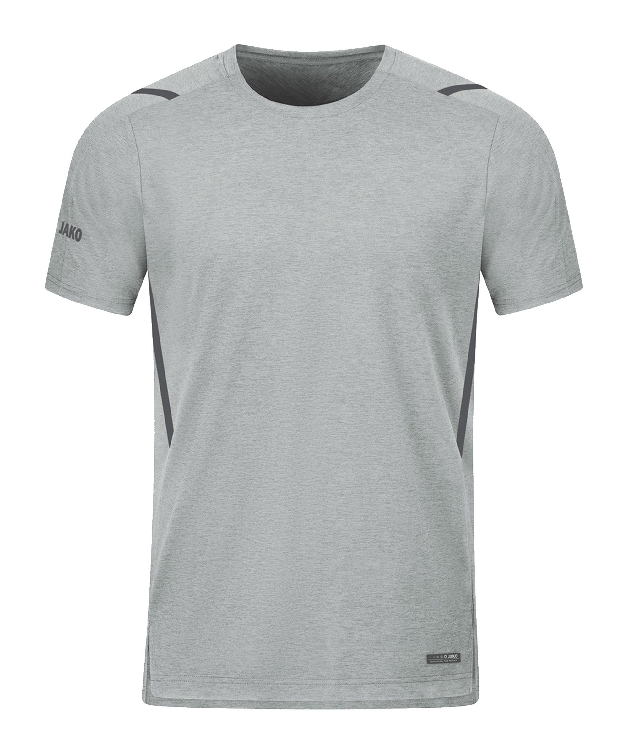 JAKO Challenge Freizeit T-Shirt Grau F521 - grau