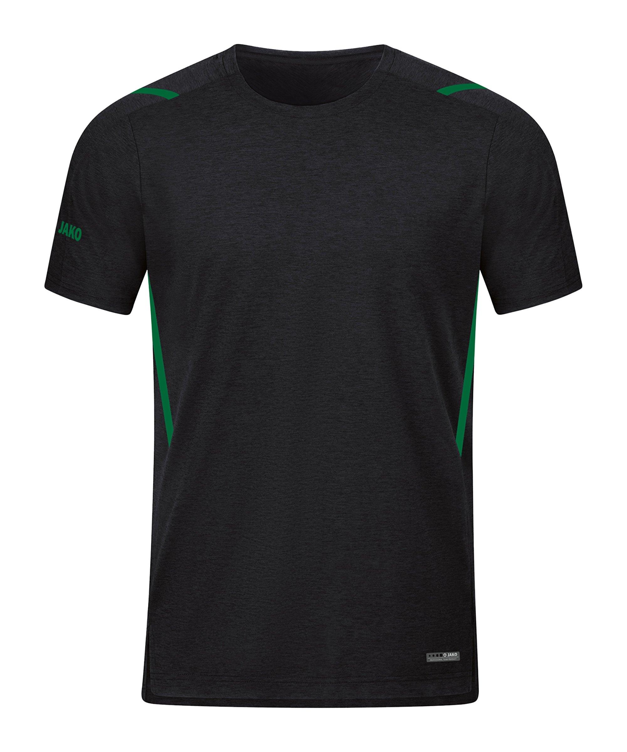 JAKO Challenge Freizeit T-Shirt Grün F503 - schwarz
