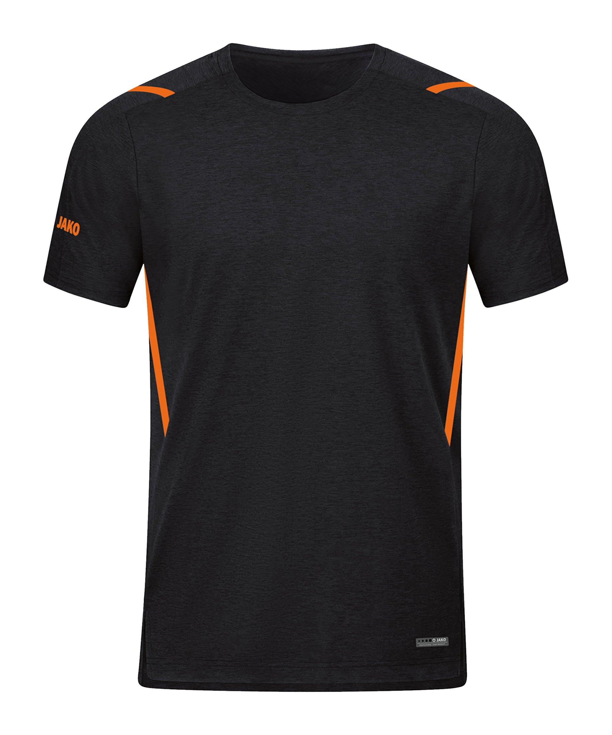 JAKO Challenge Freizeit T-Shirt Orange F506 - schwarz