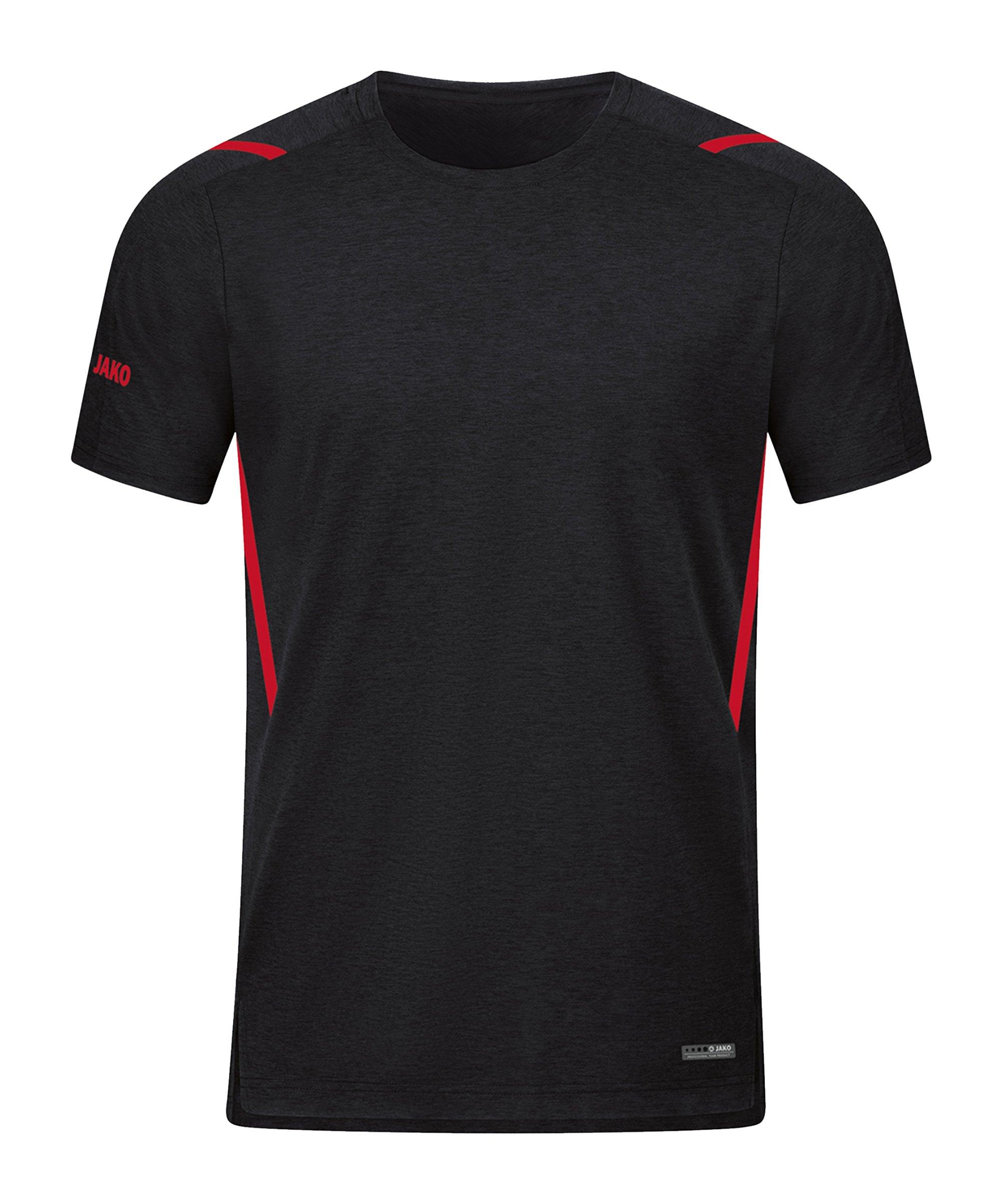 JAKO Challenge Freizeit T-Shirt Rot F502 - schwarz