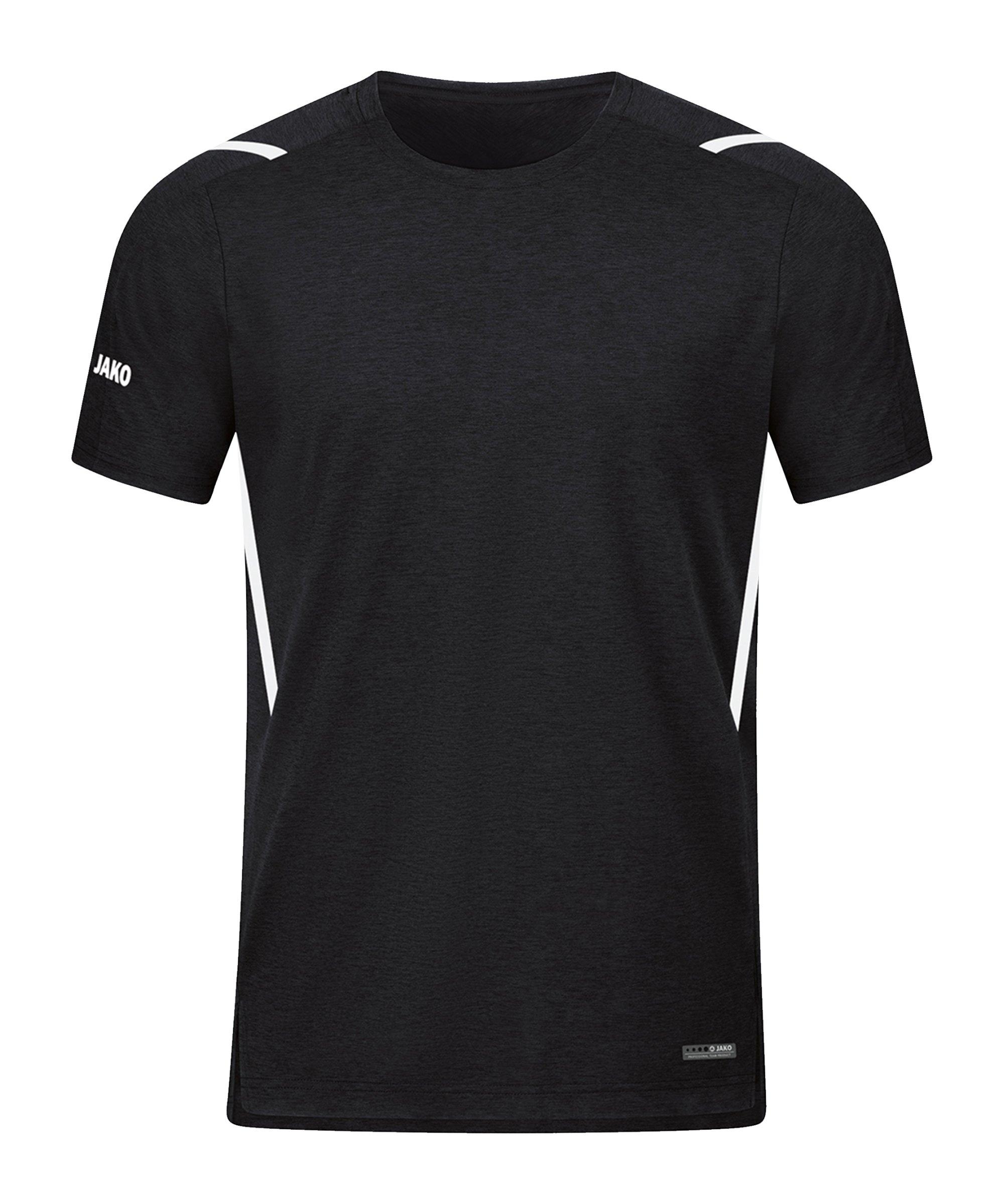 JAKO Challenge Freizeit T-Shirt Schwarz F501 - schwarz