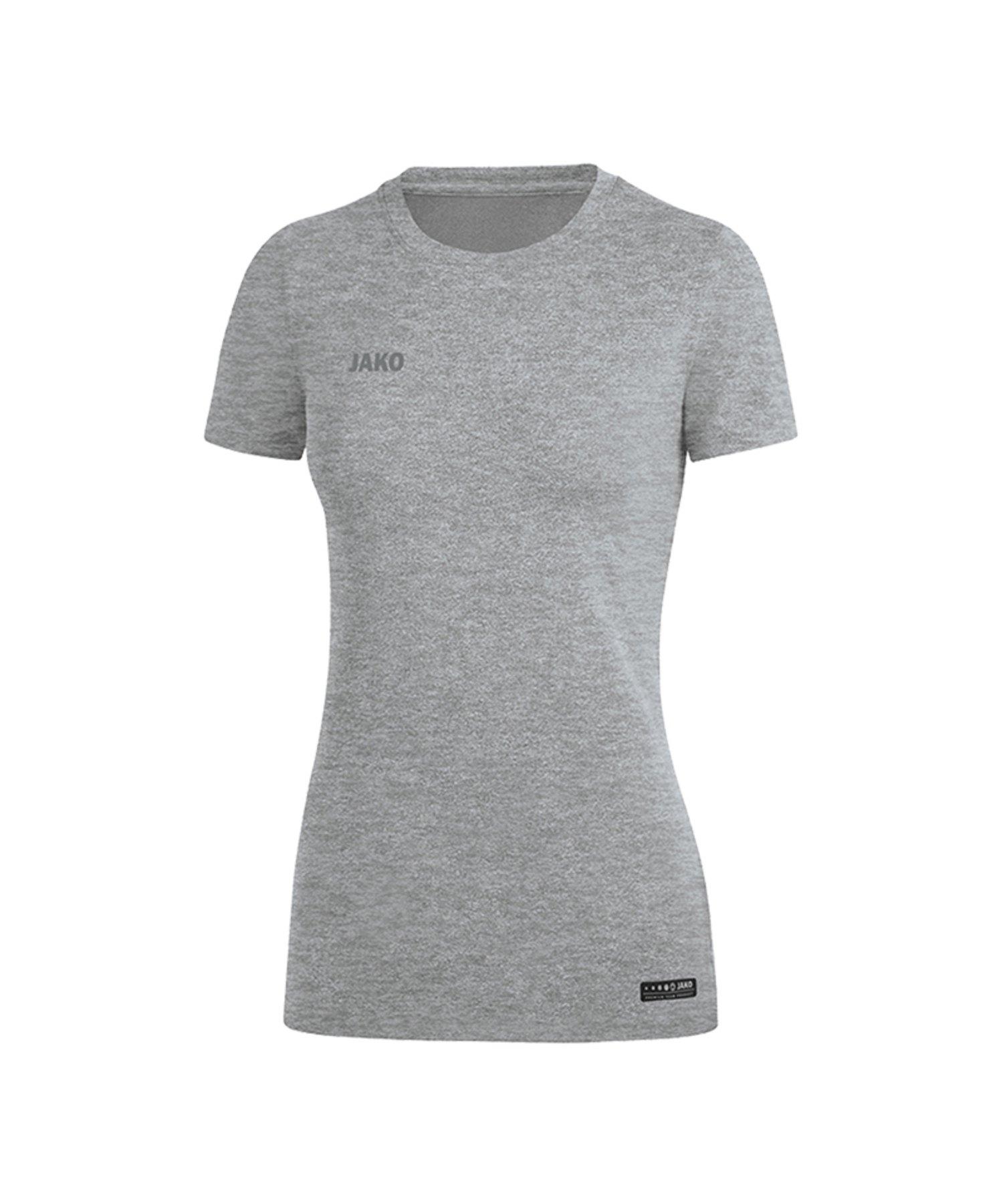 Jako T-Shirt Premium Basic Damen Grau F40 - Grau