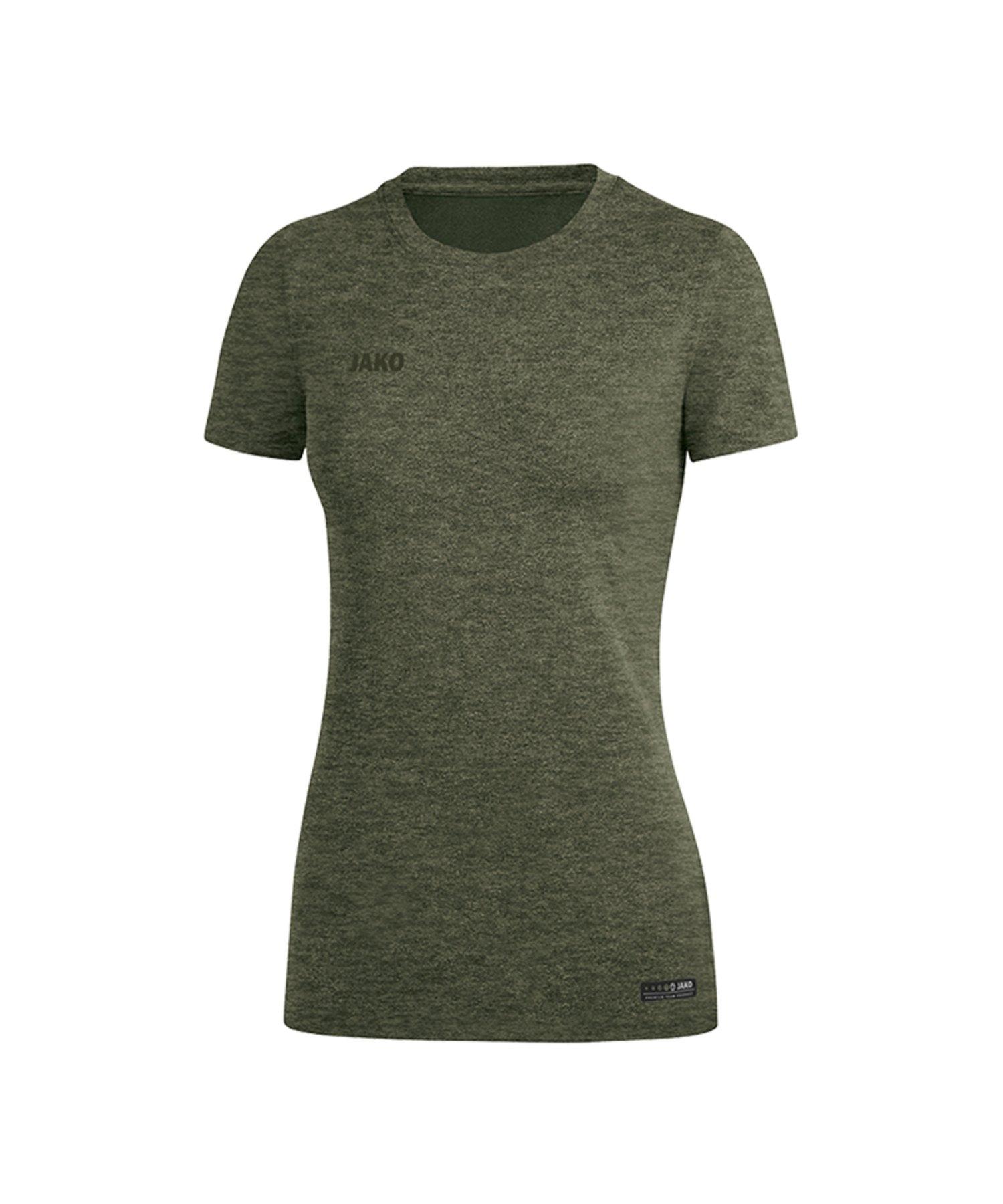 Jako T-Shirt Premium Basic Damen Khaki F28 - Khaki