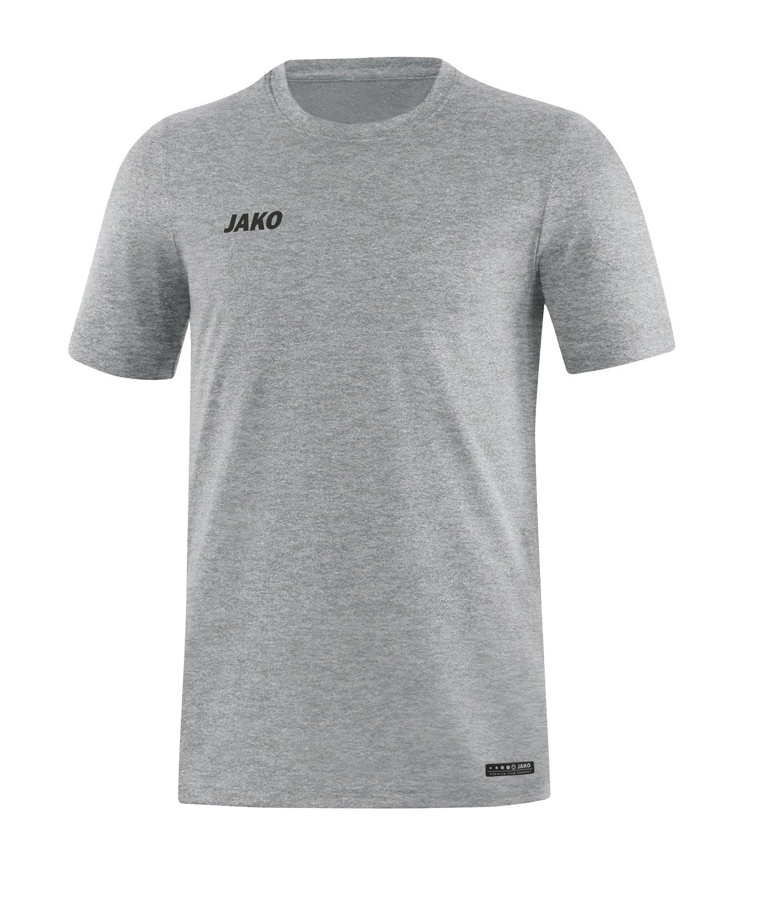 Jako T-Shirt Premium Basic Grau F40 - grau