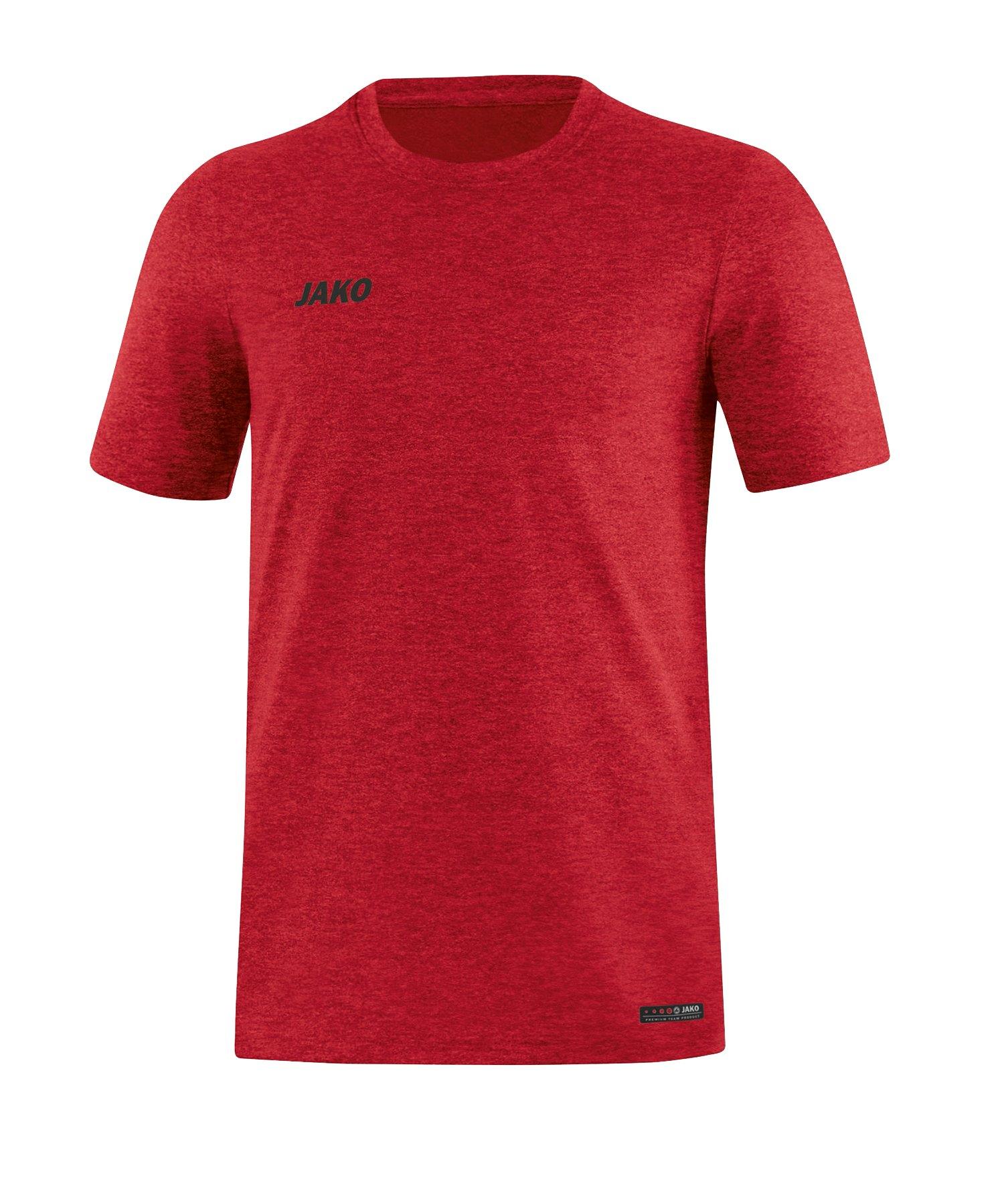 Jako T-Shirt Premium Basic Rot F01 - Rot