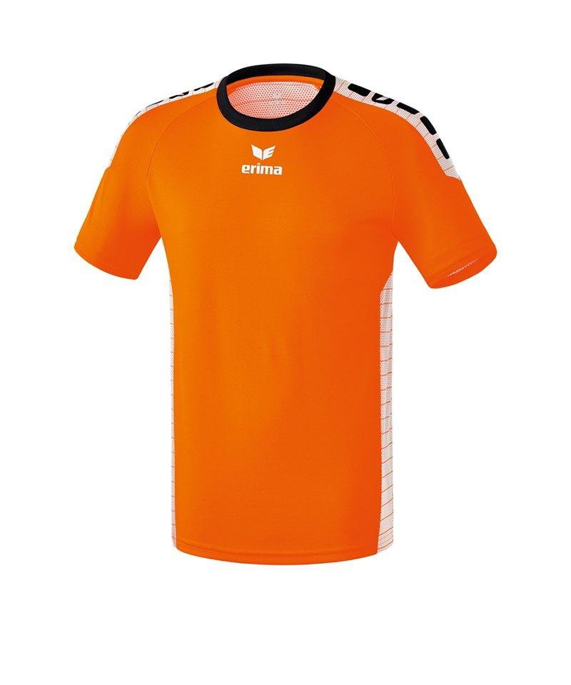 Erima Kurzarm Trikot Sevilla Kinder Orange Weiss - orange