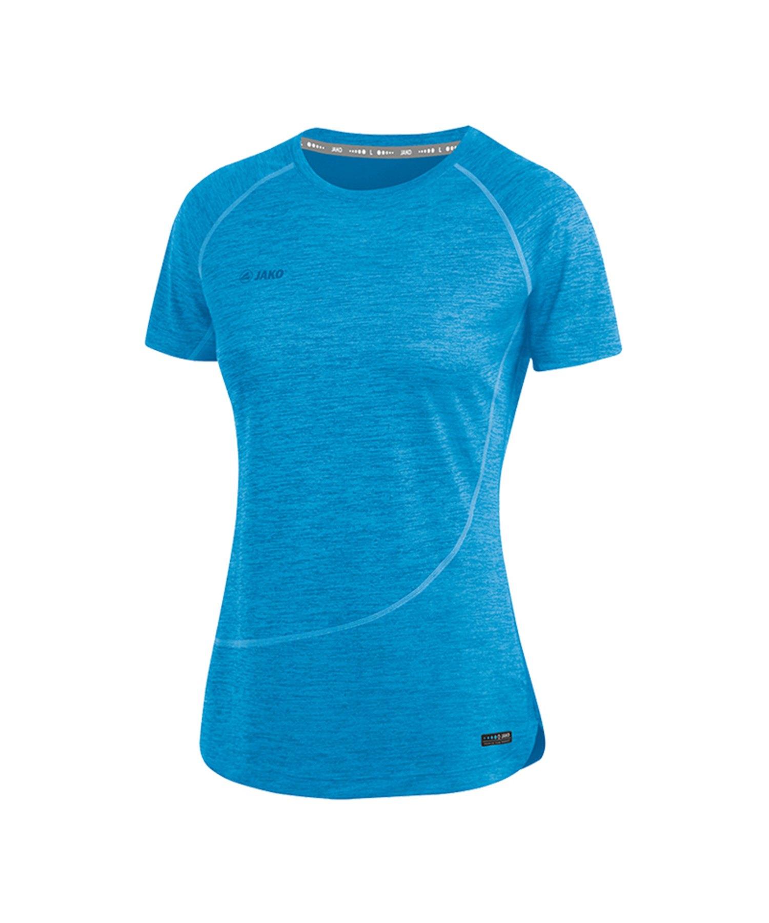 Jako T-Shirt Active Basics Damen Blau F89 - Blau