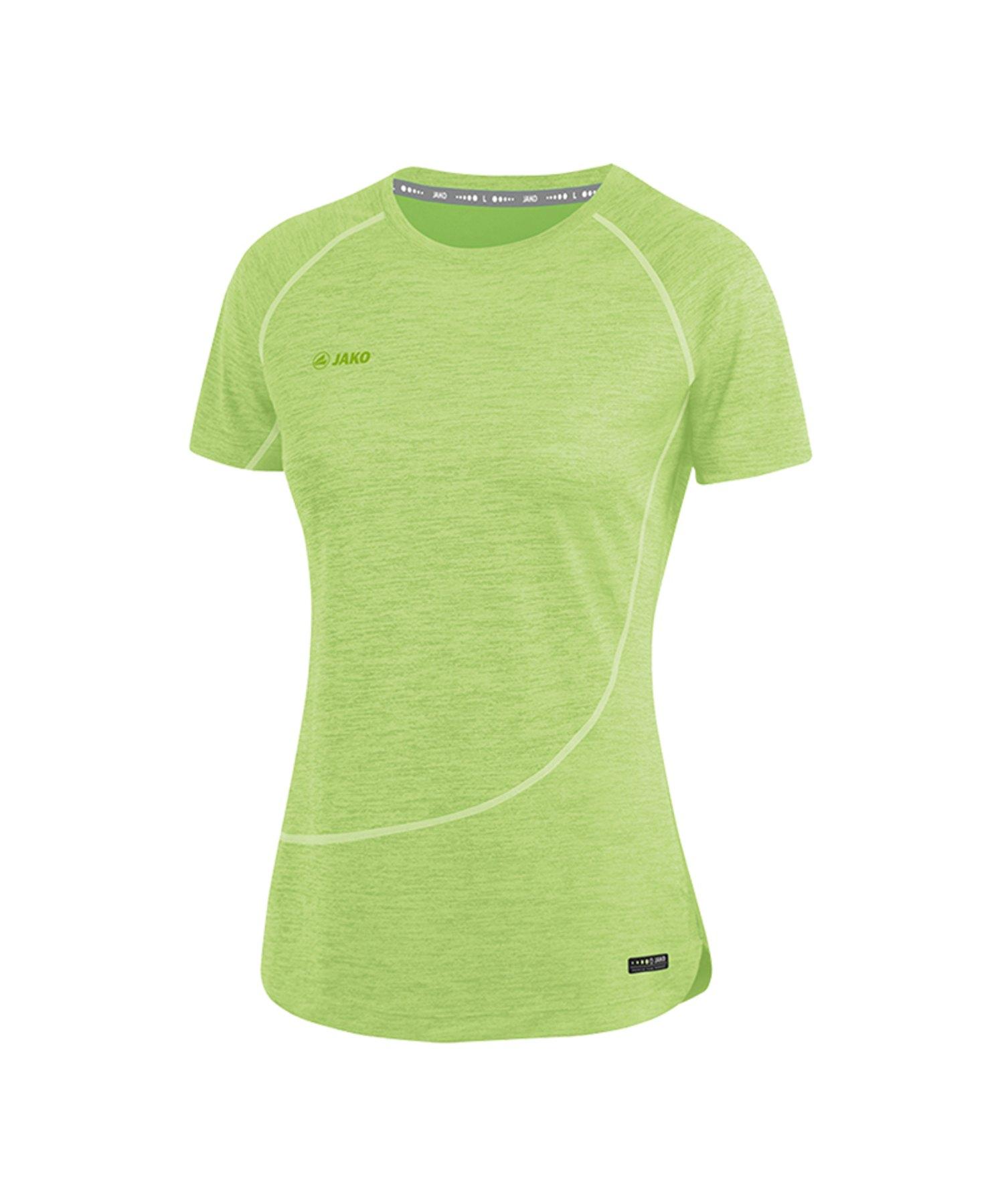 Jako T-Shirt Active Basics Damen Grün F25 - Gruen
