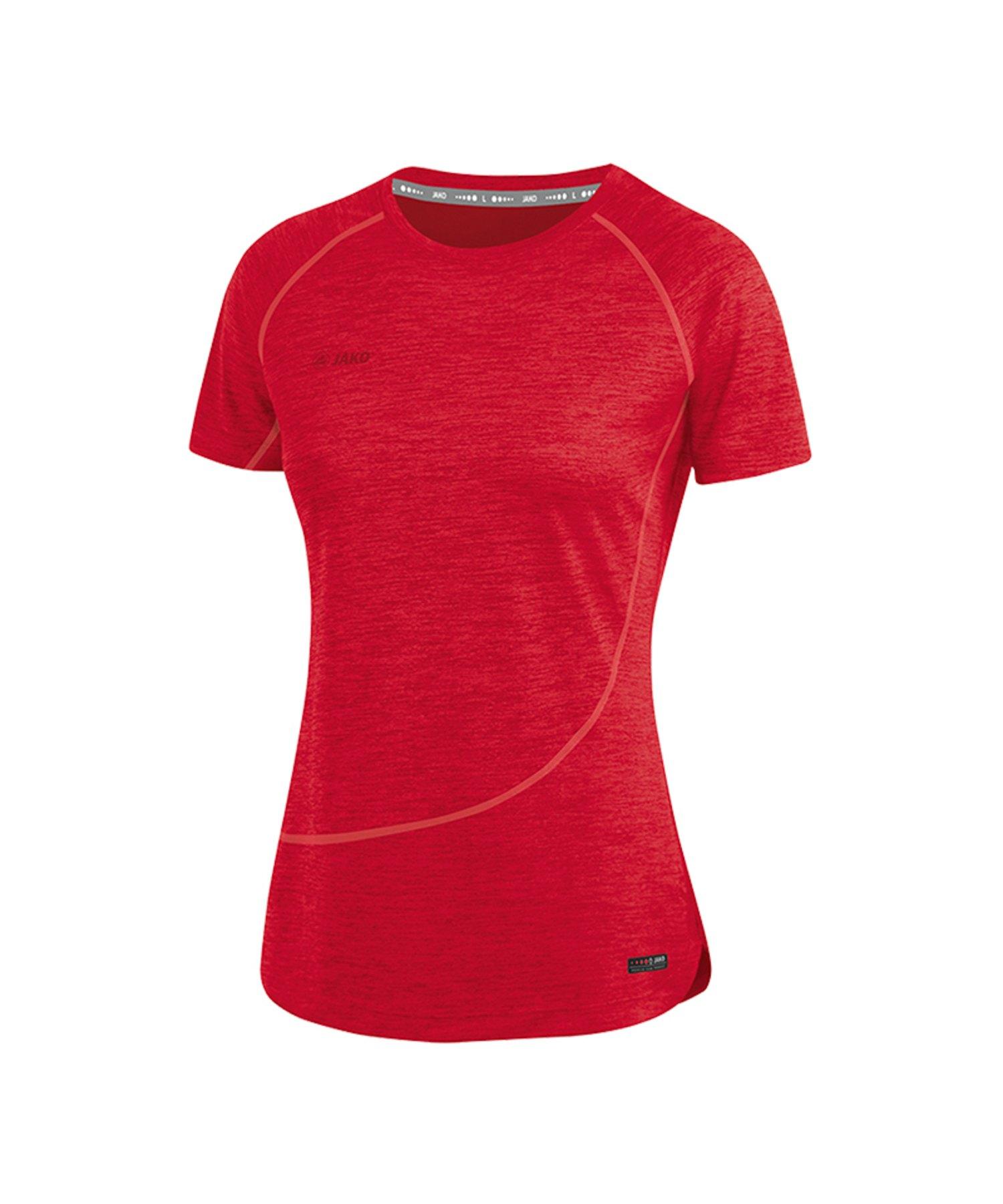 Jako T-Shirt Active Basics Damen Rot F01 - Rot