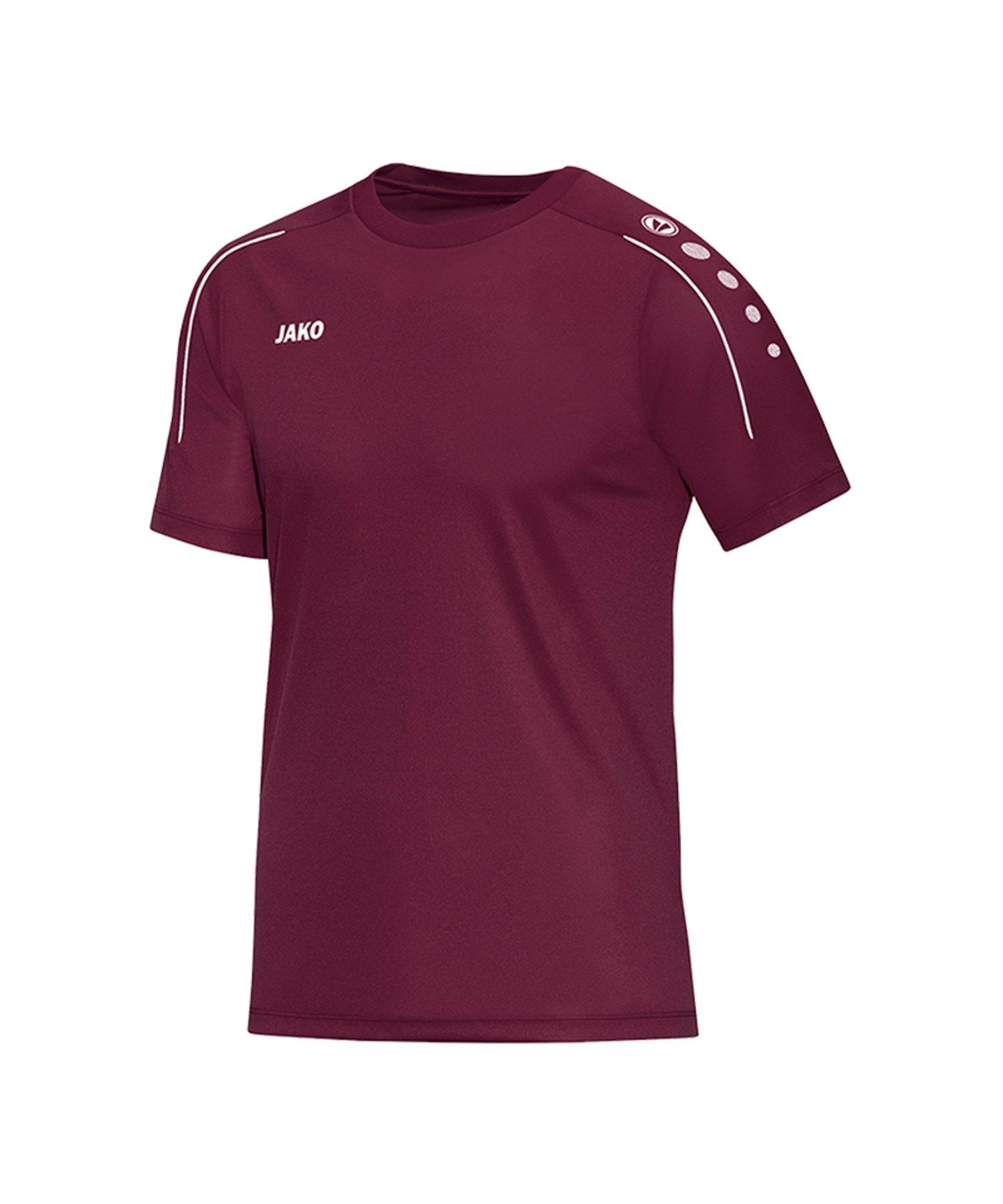 Jako Classico T-Shirt Weinrot F14 - Rot