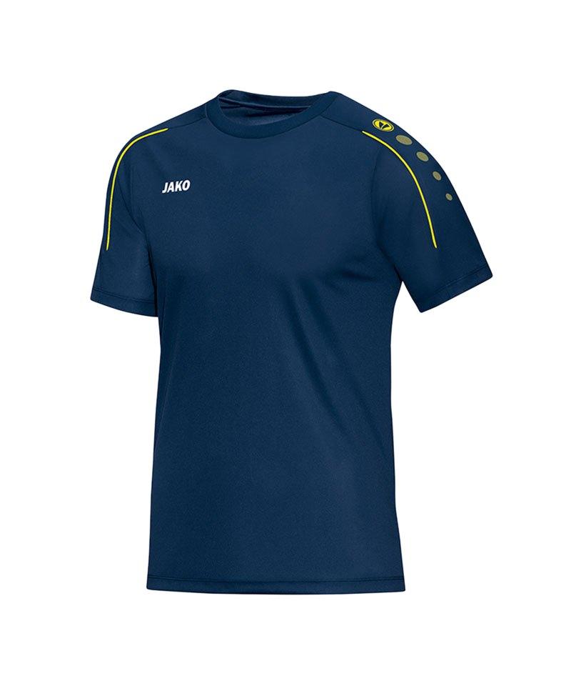 Jako T-Shirt Classico Blau Gelb F42 - blau