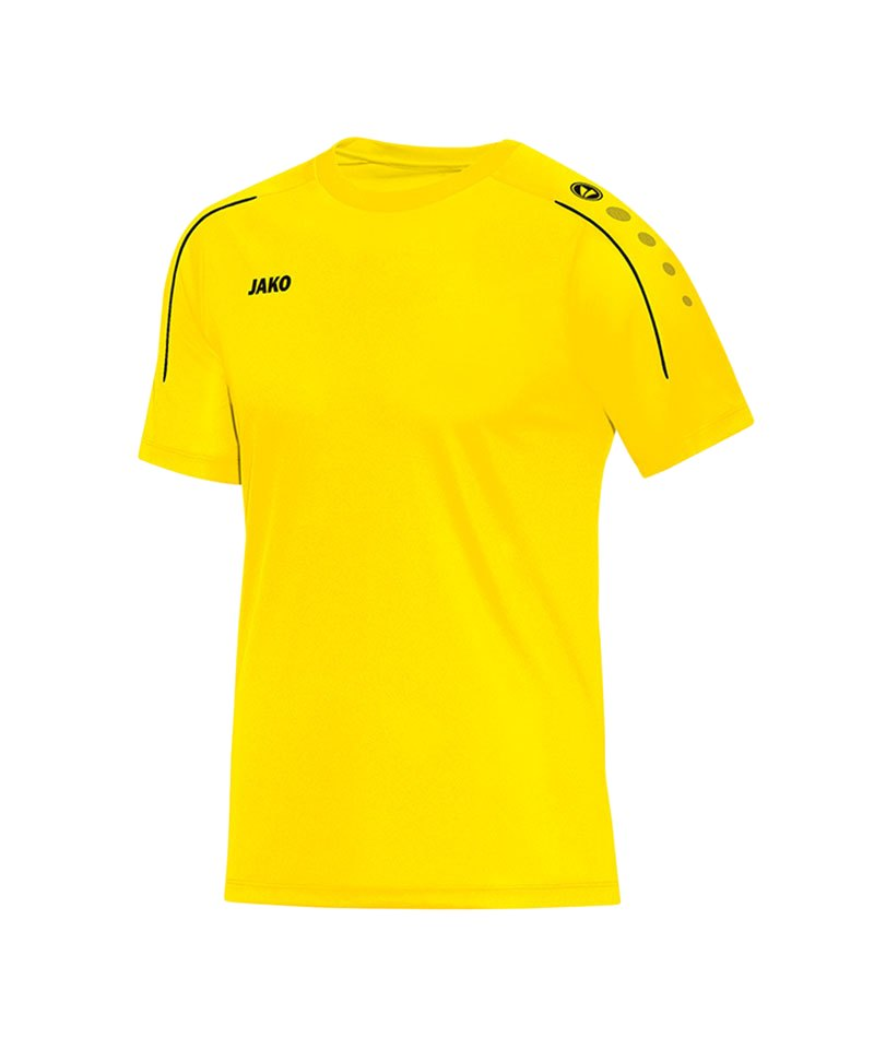 Jako T-Shirt Classico Gelb Schwarz F03 - gelb