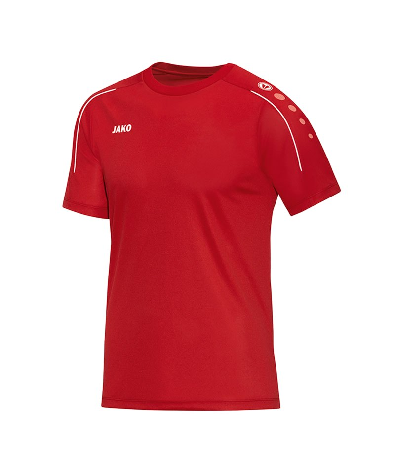 Jako T-Shirt Classico Rot Weiss F01 - rot