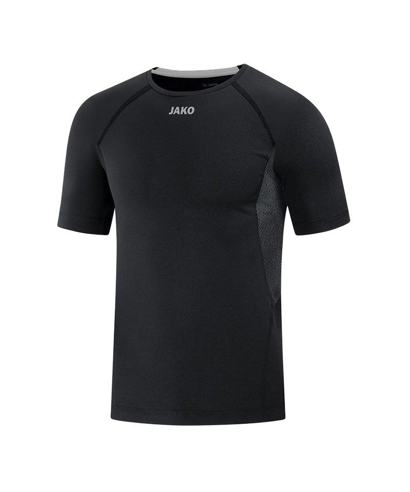 Jako Compression 2.0 T-Shirt Schwarz F08 - schwarz