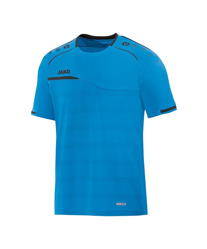 Jako Prestige T-Shirt Blau Grau F21 - blau
