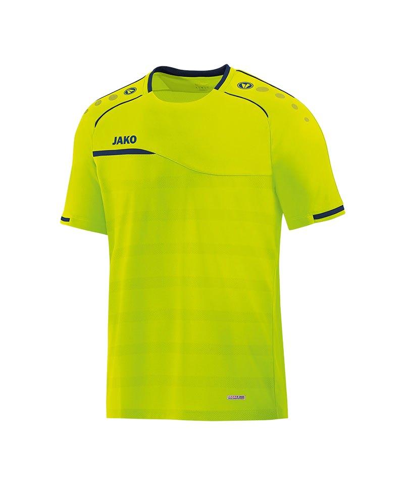 Jako Prestige T-Shirt Gelb Blau F09 - gelb