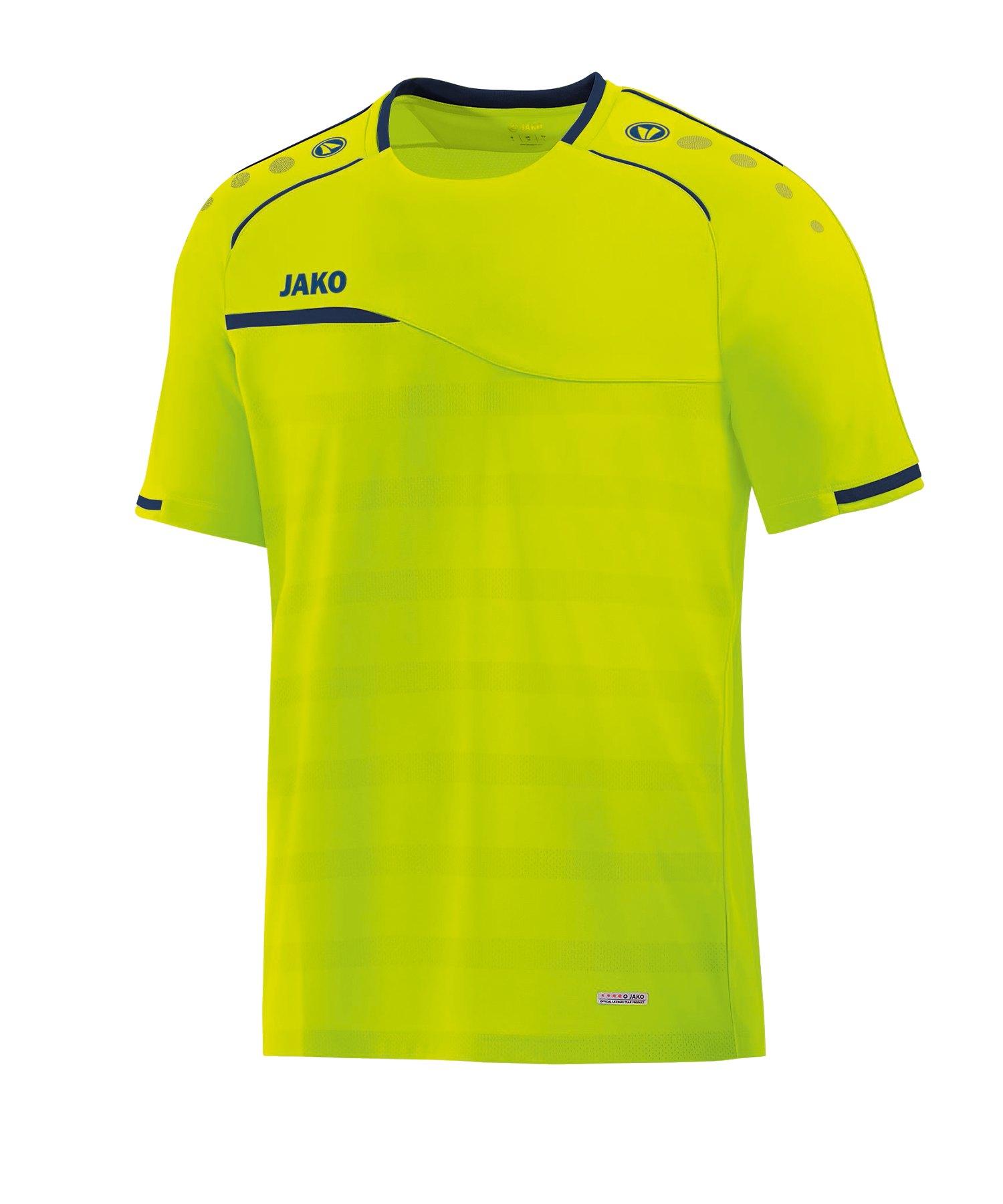 Jako Prestige T-Shirt Kids Gelb Blau F09 - gelb