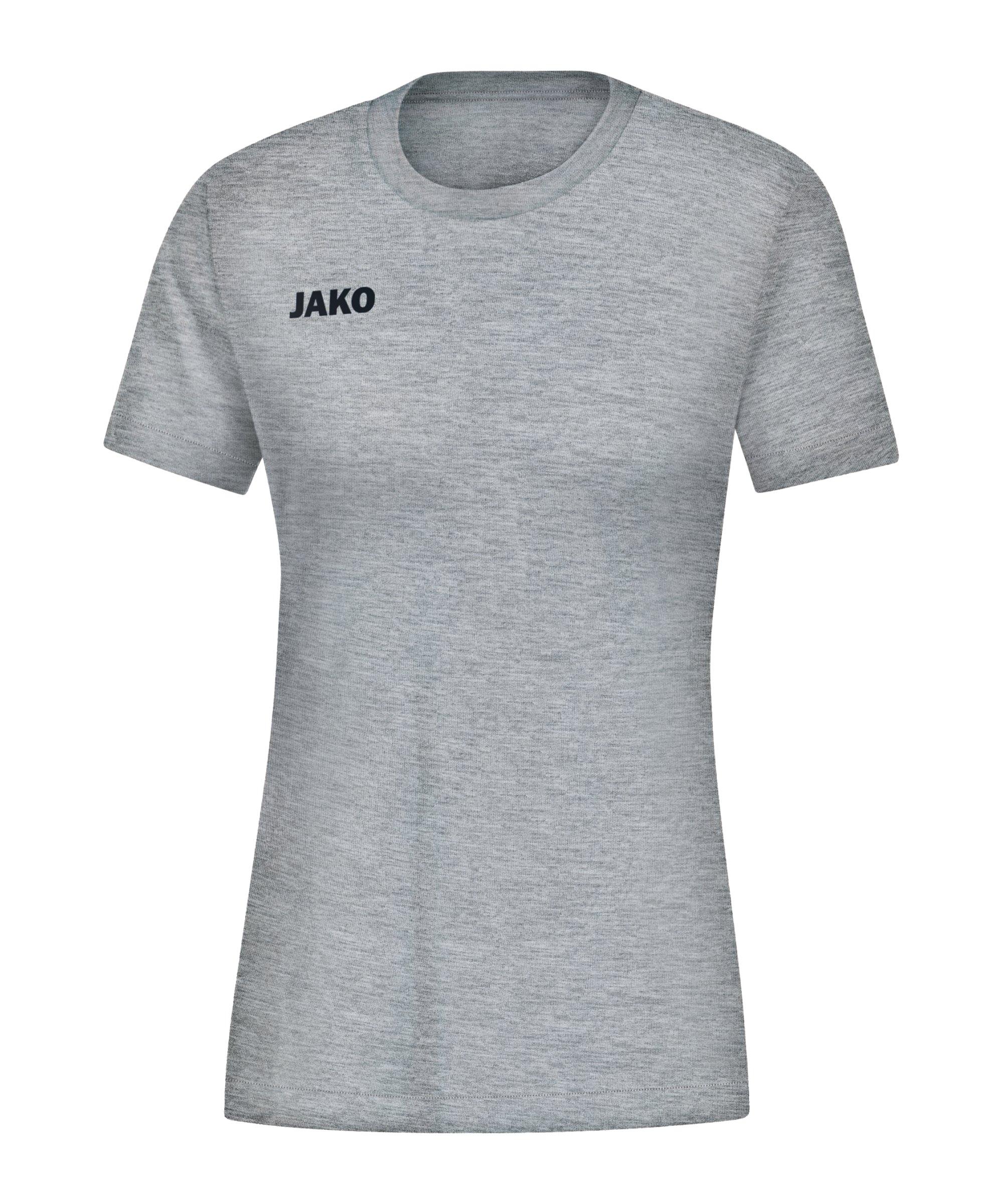 JAKO Base T-Shirt Damen Hellgrau F41 - grau