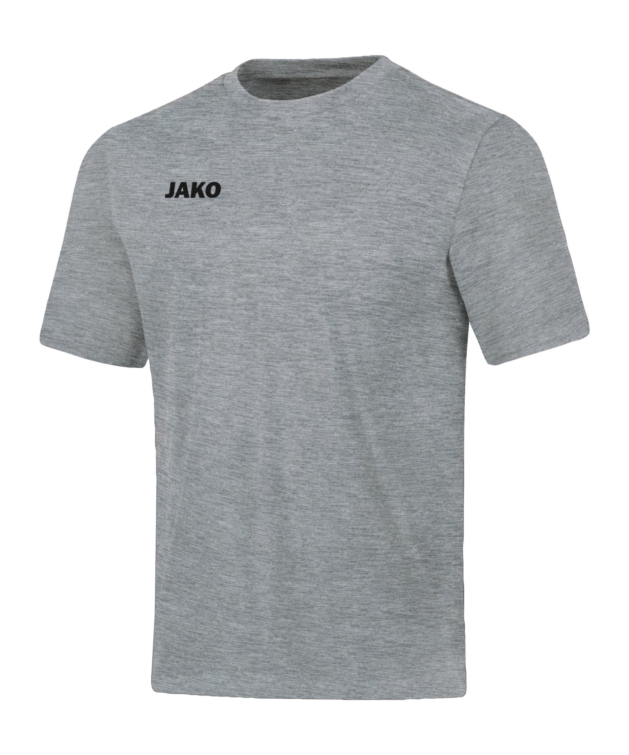 JAKO Base T-Shirt Hellgrau F41 - grau
