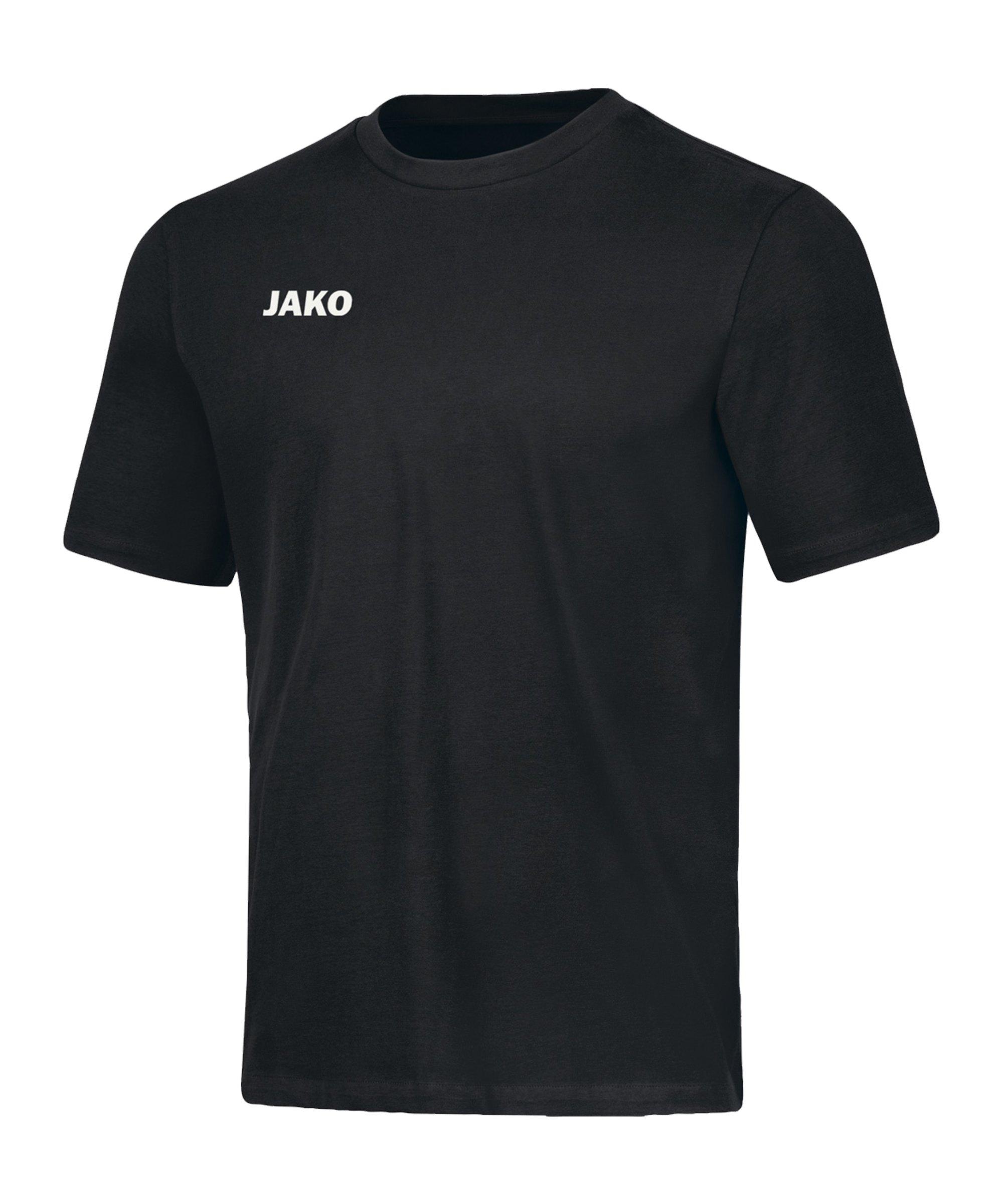 JAKO Base T-Shirt Schwarz F08 - schwarz