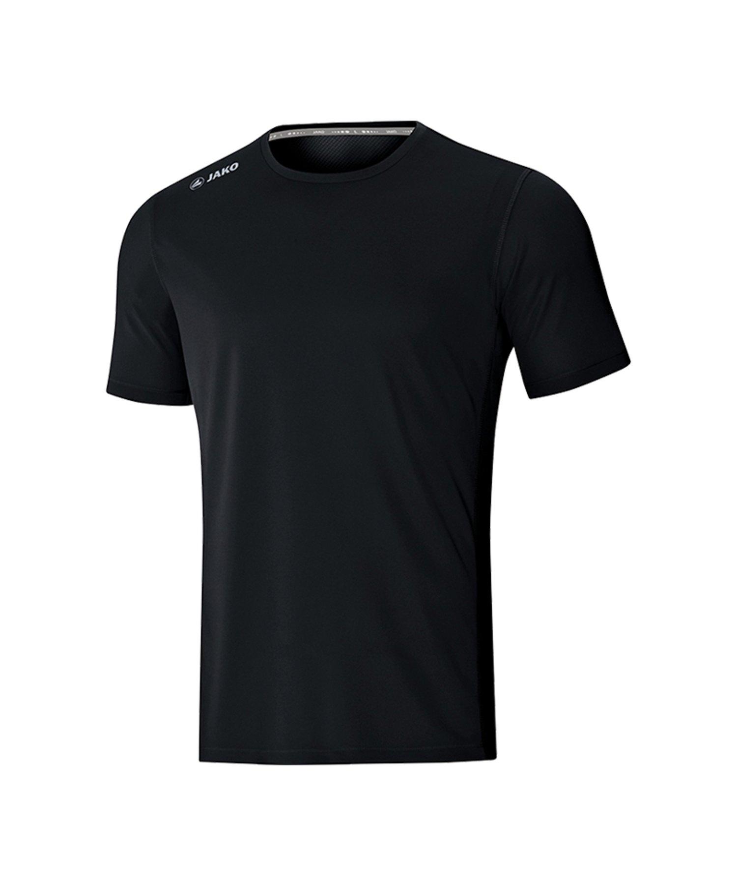 Jako Run 2.0 T-Shirt Running Schwarz F08 - Schwarz