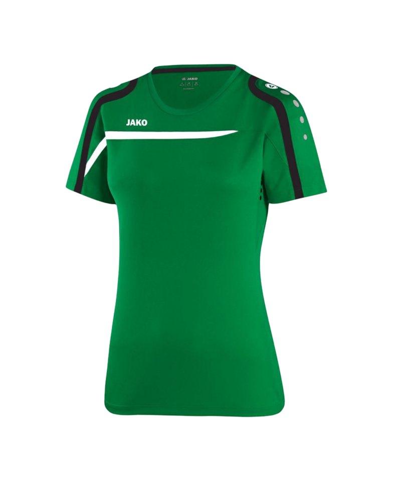 Jako T-Shirt Performance Damen F06 Grün Weiss - gruen