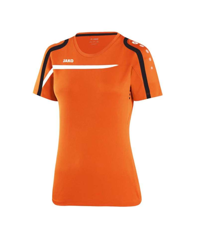 Jako T-Shirt Performance Damen F19 Orange Weiss - orange