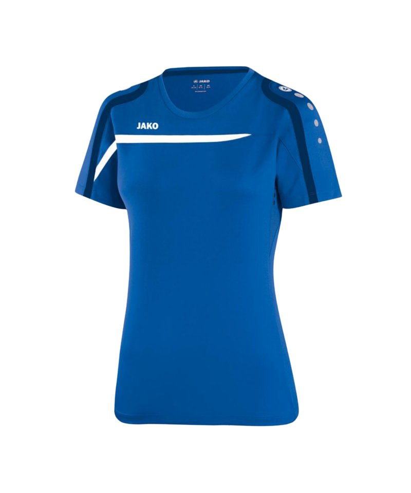 Jako T-Shirt Performance Damen F49 Blau Weiss - blau